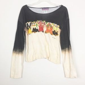 [Doreman Burns Cowgirls] Graphic tee boots Large